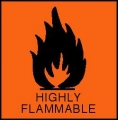 Highly Flammable Warning Label